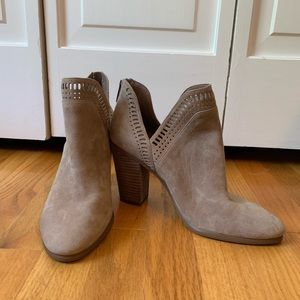 Vince Camuto Suede Taupe Booties